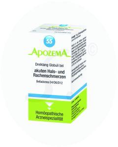 Apozema Dreiklang Globuli Nr. 55 bei akuten Hals- und Rachenschmerzen 15 g