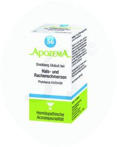 Apozema Dreiklang Globuli Nr. 56 bei Hals- und Rachenschmerzen 15 g
