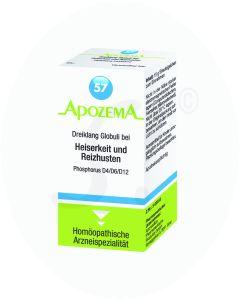 Apozema Dreiklang Globuli Nr. 57 bei Heiserkeit und Reizhusten 15 g